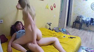 Hot Russian Blonde Reverse Cowgirl Homemade Perfect Body