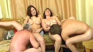 Usual family dinner turns into an sex party