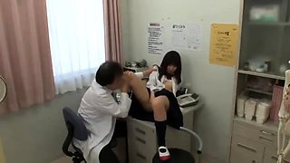 Adorable Japanese teen surrenders her cunt to a horny doctor