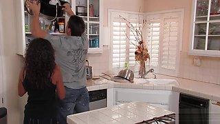 Neela Sky enjoys fucking in the kitchen