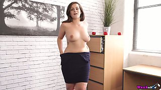 Exciting spy video featuring big tittied secretary Charlie Rose
