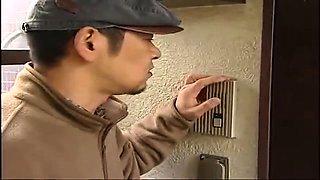 Buxom Japanese housewife enjoys every deep thrust of cock