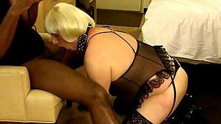 Crossdresser Amber Sucks her first BBC. part 1