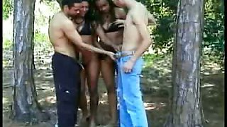 Outdoor Bisexual Foursome