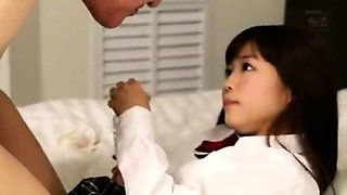 Sexy Asian schoolgirl gets fed a hard cock and a hot cumload