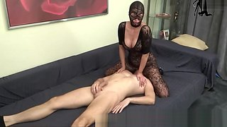 Facesitting in Nylons with big ass femdom Milf mother lady