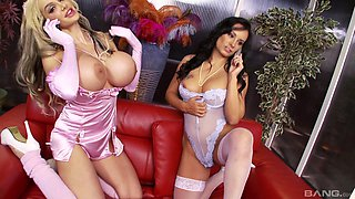Hot Eva May having amazing lesbian sex with her buxom darling