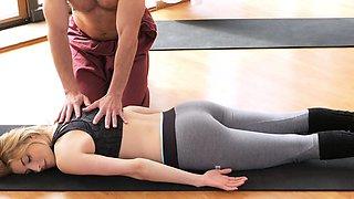 Fitness Rooms Dirty yoga teacher on gorgeous fitness model
