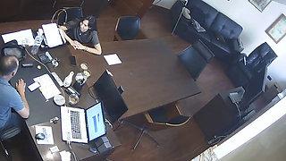 Russian Chief Fucks Secretary At Office Hidden Cam