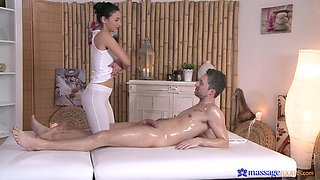 Gentle fucking on the massage table with oiled cutie Keira