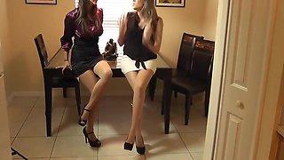 Pantyhose Double Footjob