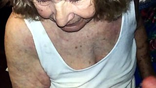 Horny granny gives a hot blowjob and receives a good fucking