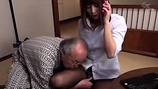 Young Japanese Prostitute Fucking With Fat OLd Pervert