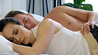 Juggy temptress Chanel Preston is making love early in the morning