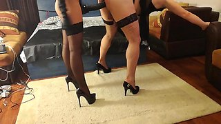 Mistress Antonella is fucking sissy with huge strapon
