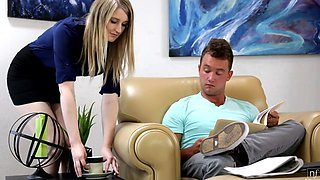 Horny Blonde Seduces Her Boss