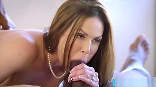 Hot trophy wife fucks bbc in husband s bed