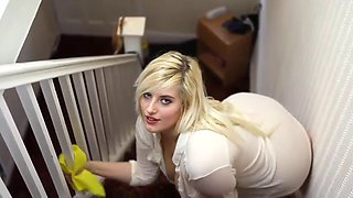 Raphaella Lily Gives Wank Instructions On The Stairs