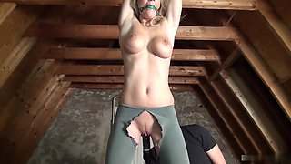 Stunning blonde is sexual slave