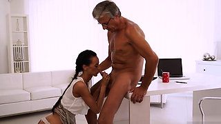Daddy watch me fuck Finally she's got her manager dick