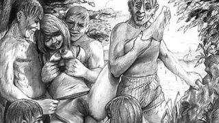 Little care is given to the used sub women in the sadistic BDSM artwork