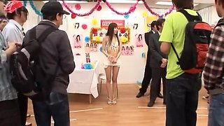 Crazy Japanese model Yu Asakura in Exotic bikini skirt Handjob