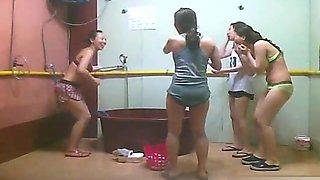 ###ping chinese girls bathing