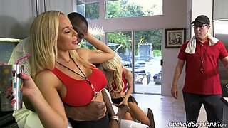 Kenzie Reeves and Olivia Austin enjoy memorable interracial foursome