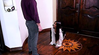 Submissived- Brunette Teen Punished And Fucked By Daddy