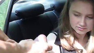 Gang bang fuck with a hot school girl