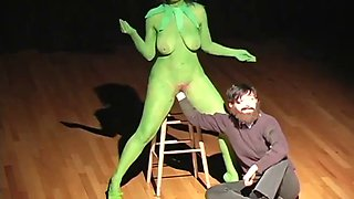 Performance artist being fisted in public