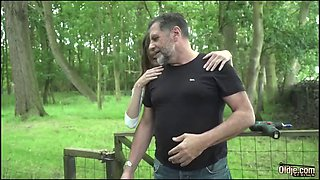 Old man hardcore fucking young girl fucks her virgin pussy