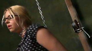Holly loves breast bondage