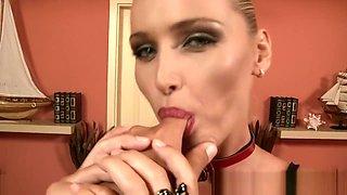 MILF mistress sucks cock ass to mouth