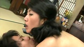 Japanese Son Get Sex Lesson By His Mom