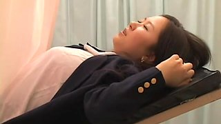 Gyno fetish video with asian cunt examined by horny doctor