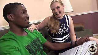 Cheerleader Takes Bbc For The Team