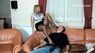Russian Mature Foot Femdom