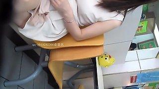 Chinese girl in white skirt voyeur part 3