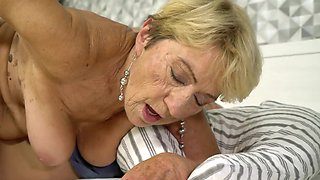 Dirty grandmother still likes having sexual fun every now and then