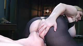 Girl wasn't prepared for BDSM act but fat mistress made it