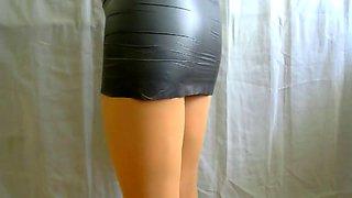 crossdresser pantyhose in black 093