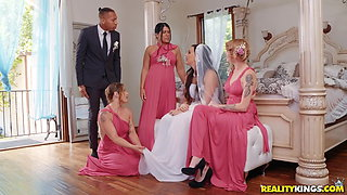 Interracial anal sex right before her wedding