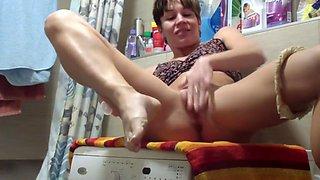 Escort sex on the washing machine in my flat