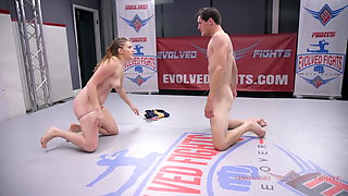 Nude Wrestling Sex as Stephie Staar strapon fucks loser