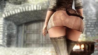 Sexy Girl Dances Slutty For Money  E01 60 FPS  3D
