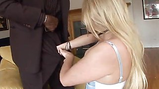 Hot Perfect Blonde Estelle Riding BBC