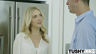 TUSHY Bosses Wife Karla Kush First Time Anal With the Office