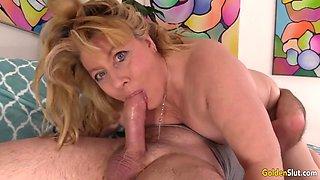 Hot mature sex with slutty grandma penny sue