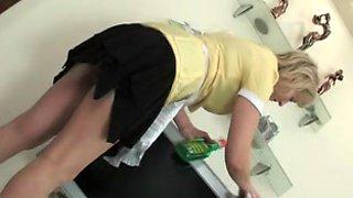 Boy seduced mature maid